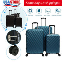 ABS Spinner Suitcase Hardside 3 Piece Nested Spinner Luggage Set (20, 24, & 28)