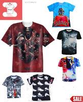Michael Jordan 3D T-Shirt King NBA Basketball Full Print Tee Style Size S - 7XL