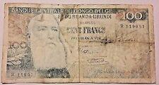 100 Francs Frank Congo 1956 Belgique Belge Belgïe Belgium Ruanda Urundi