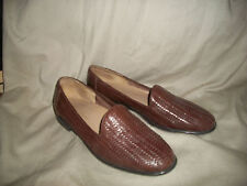 Diana Ferrari brown woven leather loafers size 9M
