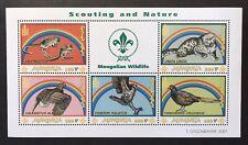 MONGOLIA WILDLIFE STAMPS 2001 SCOUTING & NATURE WILD ANIMALS BIRD SNOW LEOPARD