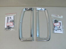 NEW 1967-1972 FORD F-100/350 TRUCK TAIL LIGHT BEZELS (USE WITH TAILGATE MLDGS.)