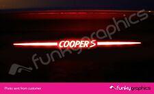 MINI COOPER S LOGO 3rd BRAKE LIGHT DECAL STICKER BLACK / 2006-13 2 ND GENERATION
