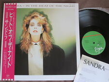 "Promo SANDRA In The Heat of the Night ARABESQUE JAPAN 12""  OBI+INSERT 14VA-9009"
