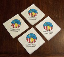 "4 Us Naval Station Panama Canal Paper Napkins, 5""x5"""