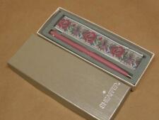Vtg Women's Sheaffer Pen Made For Lockheed Pink Enamel Embroidered Sleeve in Box