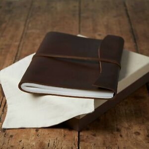 Antara Fair Trade Soft Brown Leather Photo Album + Gift Box & Bag - 2nd Quality