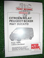 2.5 2.8 DIESEL HDi Citroen RELAY Fiat DUCATO Peugeot BOXER VANS MANUAL 1994-2001