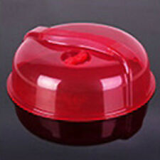 Plastic Microwave Food Dish Cover Clear Steam Vent Splatter Lid Kitchen Tool Hot