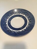 Vintage  Churchill England Blue Willow China Saucer