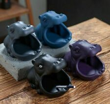 Home Cartoon Animals Ashtray Creative Ceramics Hippo Office Desktop Key Grocery