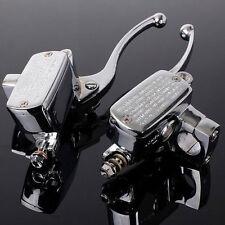 CNC Motorcycle 7/8'' Clutch Brake Levers Master Cylinder Reservoir For Honda BMW