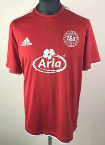 Denmark 2010 ADIDAS Training Football Shirt Men's Size L DBU Soccer Jersey Dansk