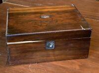 Antique Wood Veneer Document Box for Restoration/Repair
