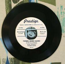 Juan Tirado's Mambo Band 45 Farmer's Market Mambo 1955 Prestige Latin Promo VG+