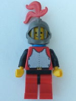 LEGO Minifigure - CAS193 - CASTLE -  Breastplate - Red with Black Arms, Red Legs