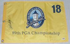 VIJAY SINGH SIGNED AUTO'D PGA CHAMPIONSHIP FLAG PSA/DNA COA 1991 OPEN 1995
