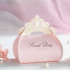 10Pcs Cute Romantic Pink Crown Candy Box Bags Wedding Birthday Party Favor Gifts