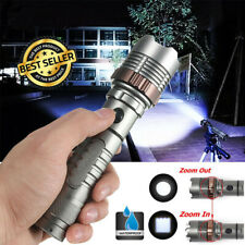 990000LM Super Bright T6 LED Torch Light Police Tactical Flashlight Outdoor Lamp