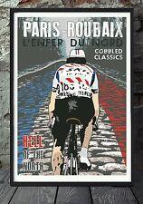 PARIS ROUBAIX vélo POSTER Celebrating the Classics. spécialement créé