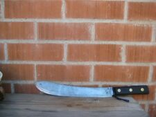 "Vintage 12"" Blade * FOSTER BROS. * 3XL Carbon Butcher Breaking Knife USA"