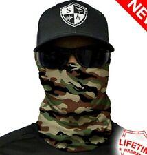 Basic Military Camo Tubular Bandana Face Shield Sun Mask Balaclava