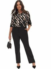 Simply Be Tailored Straight Leg Trousers  Regular UK 22 BNWT Black