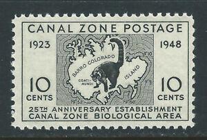 Bigjake: Canal Zone #141: 10 cent Map of Biological Area & Coatimundi