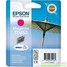original Epson T0453 + T0452 magenta + cyan Stylus C64 C66 C84