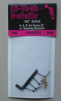 """HO 22"""" AAR Real Rubber Air Hoses 1:87 SCALE LAYOUT DIORAMA HI-TECH 6040"""