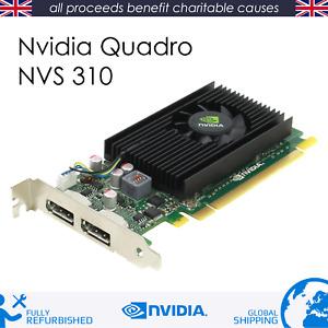 HP 707252-001 Nvidia NVS 310 - 512MB - Dual 2x Display Port - PCIe 16x