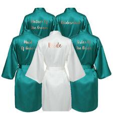 Satin Silk Bride Robe Wedding Robe Bridesmaid Robes Dressing Gown Bridal Robe