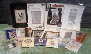 A Job Lot Cross Stitch Kits & Charts Carol Tinson Jane Greenoff DMC Anchor other