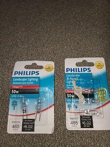 NEW PHILIPS LANDSCAPE & ACCENT LIGHT- 12 VOLT 50W BULBS -Lot 5 Bulbs (J)