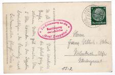 1933 Graf Zeppelin Photo Postcard - Friedrichshafen Cancel Germany
