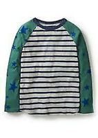 NEW RRP £14 Mini Boden Long Sleeve Raglan Tee T Shirt                    (BU-20)