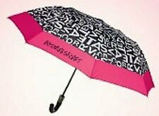 Victoria's Secret Limited Edition 2012 Supermodel Umbrella Black White Pink NWT