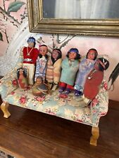 Lot Of 8 Vintage Native American Indian Dolls From Doll Shop Inventory