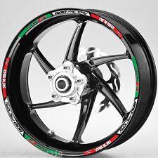 Aprilia Tuono V4 1100 factory  Italian flag wheel rim graphics x 12