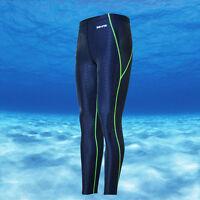 Men's Sharkskin Swim Trunks Swimming Leggings Diving Long Pants Racking Tights