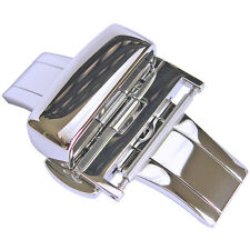 20mm Hadley-Roma Stainless Steel Butterfly Deployant Clasp Buckle Silver BKL100