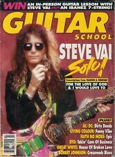 Guitar School Magazine July 1990 Steve Vai Living Color Great White Faith No Mor