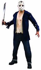 Men's Jason Voorhees Costume & Mask Friday the 13th Adult Size Standard