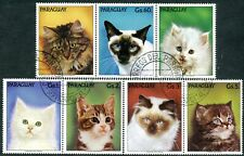 256b - Paraguay - Cats - Fauna - Used Set + Label