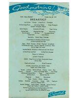 Menu Vintage RMS Queen Elizabeth Cunard Tuesday May 28, 1957 Breakfast M13