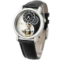 Time100 Watch W60012M Sun moon and stars skeleton Black Band genuine japan