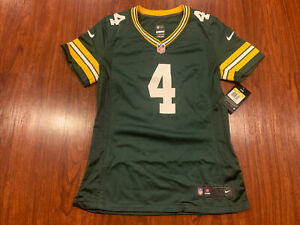 Nike Women's Brett Favre Green Bay Packers Green Game Version Jersey Small S NFL