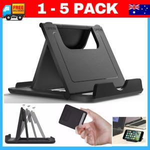 Foldable 360° Universal Desk Mount Cradle Holder Stand  Phone iPad Tablet black