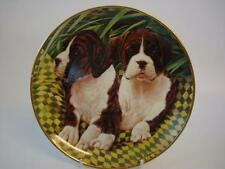DANBURY MINT THE BOXER DOG TWO OF A KIND PLATE