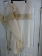 Nwot King Size Cotton Bedskirt from Jacobson's Ivory with Ecru Border